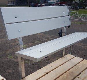 vibo marine aluminum bench no arms