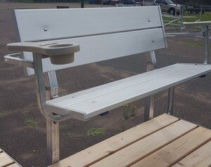 vibo marine aluminum bench with arms
