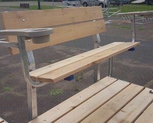 vibo marine cedar bench with arms 2